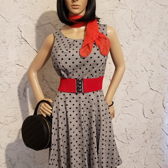 Elle Dresses & Skirts - Dress, scarf & belt